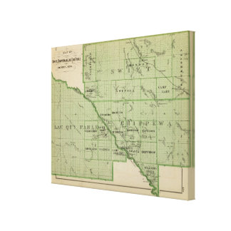 Map of Swift, Minnesota Canvas Print