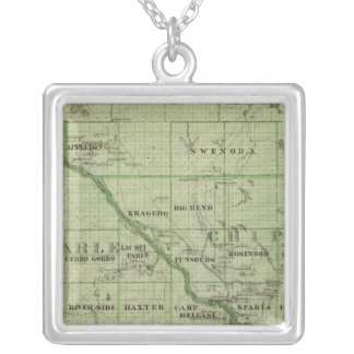 Map of Swift, Minnesota Silver Plated Necklace