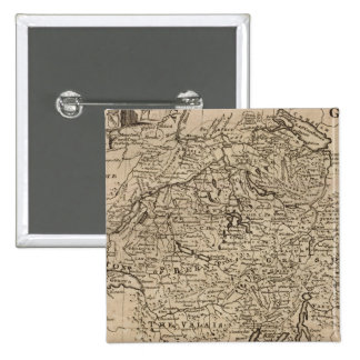 Map of Switzerland 15 Cm Square Badge