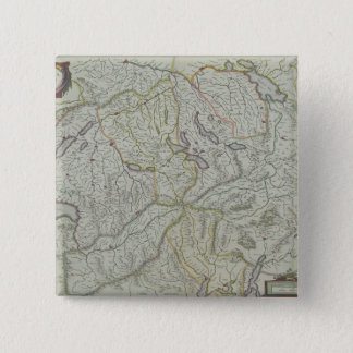 Map of Switzerland 15 Cm Square Badge
