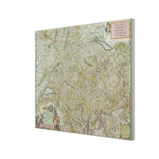 Map of Switzerland 2 Canvas Print