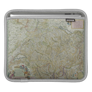 Map of Switzerland 2 iPad Sleeve