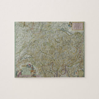 Map of Switzerland 2 Jigsaw Puzzle