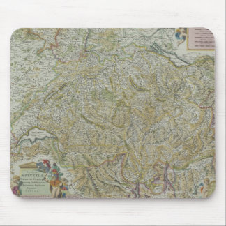 Map of Switzerland 2 Mouse Mat