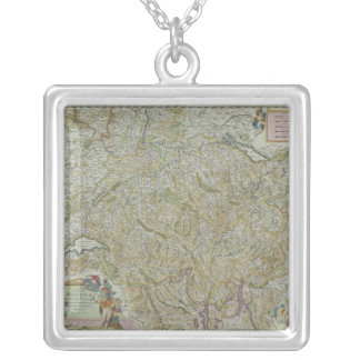 Map of Switzerland 2 Silver Plated Necklace
