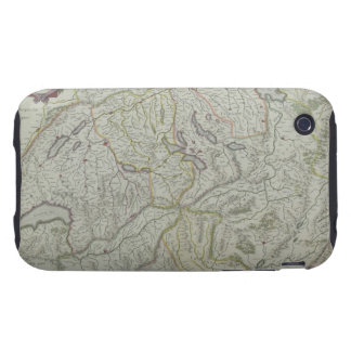 Map of Switzerland Tough iPhone 3 Covers