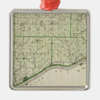 Map of Switzerland County Christmas Ornament