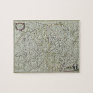 Map of Switzerland Jigsaw Puzzle