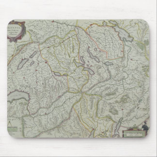 Map of Switzerland Mouse Mat