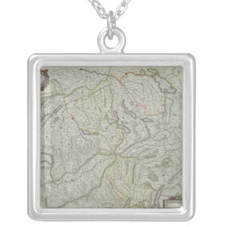 Map of Switzerland Silver Plated Necklace