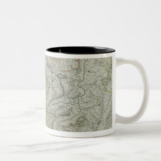 Map of Switzerland Two-Tone Coffee Mug