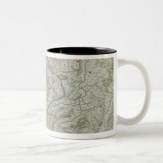 Map of Switzerland Two-Tone Coffee Mug