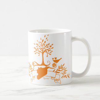 Map of Syria -Natural style Coffee Mug