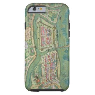 Map of Szolnok, from 'Civitates Orbis Terrarum' by Tough iPhone 6 Case