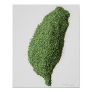 Map of Taiwan made of grass Poster