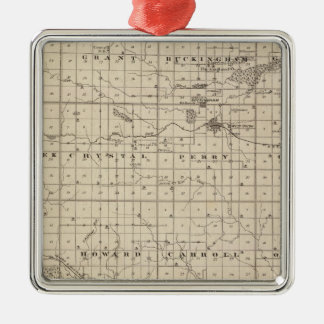 Map of Tama County, State of Iowa Christmas Ornament