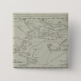 Map of Tartaria in China 15 Cm Square Badge