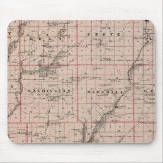 Map of Taylor County, State of Iowa Mouse Mat