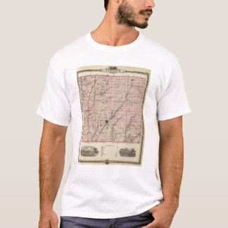 Map of Taylor County, State of Iowa T-Shirt