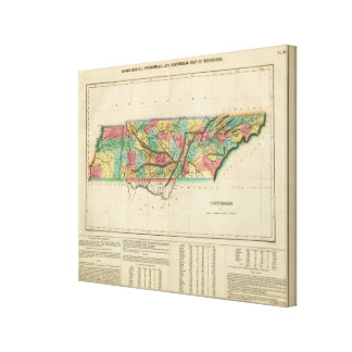 Map Of Tennessee Canvas Print