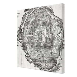 Map of Tenochtitlan Canvas Print