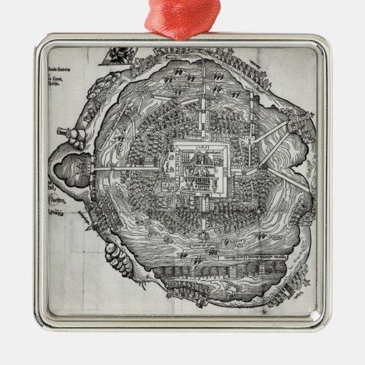Map of Tenochtitlan Ornament