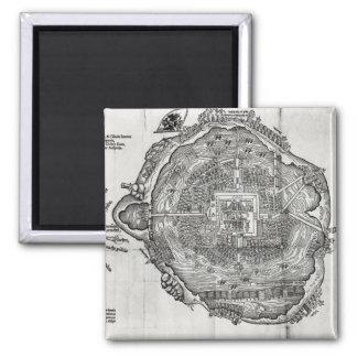 Map of Tenochtitlan Magnet