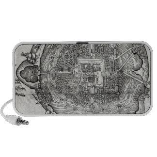 Map of Tenochtitlan Travelling Speaker