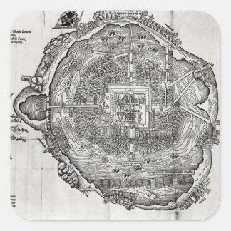 Map of Tenochtitlan Square Sticker