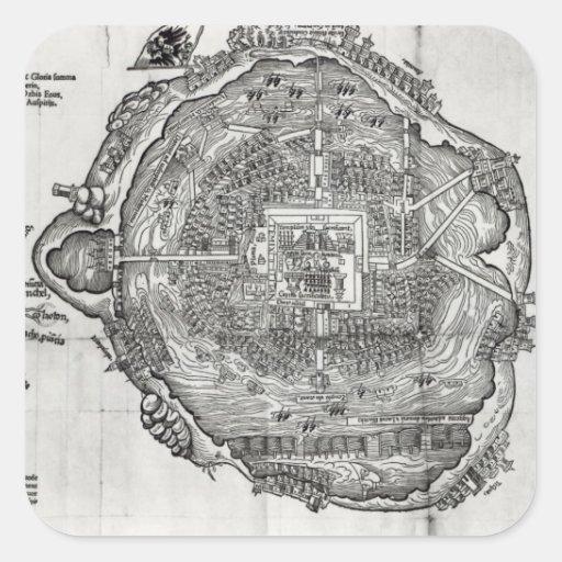 Map of Tenochtitlan Sticker