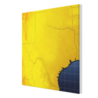 Map of Texas 2 Canvas Print