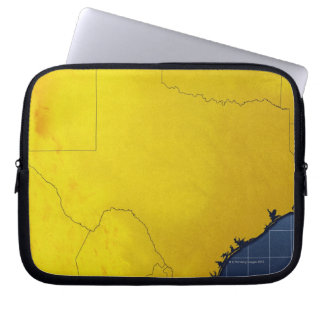 Map of Texas 3 Laptop Sleeve