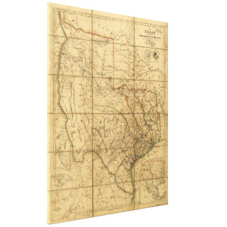 Map of Texas by John Arrowsmith (1841) Canvas Print
