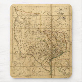 Map of Texas by John Arrowsmith (1841) Mouse Mat