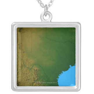 Map of Texas Silver Plated Necklace
