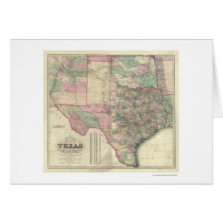 Map of Texas Territory by Colton 1872 Greeting Card