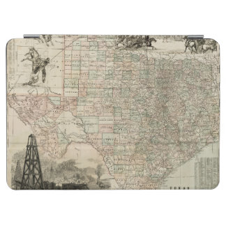 Map of Texas with County Borders iPad Air Cover