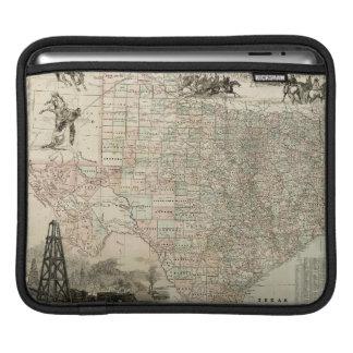 Map of Texas with County Borders iPad Sleeve