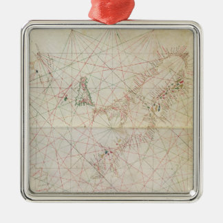 Map of the Adriatic Sea Christmas Ornament