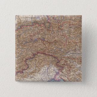 Map of The Alps in Austria 15 Cm Square Badge