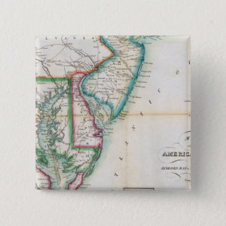 Map of the American Coast 15 Cm Square Badge