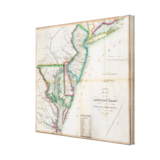 Map of the American Coast Canvas Print