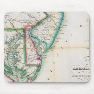 Map of the American Coast Mouse Mat