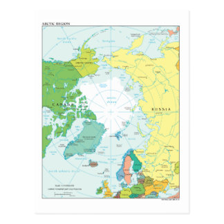 Map of the Arctic Region Postcard