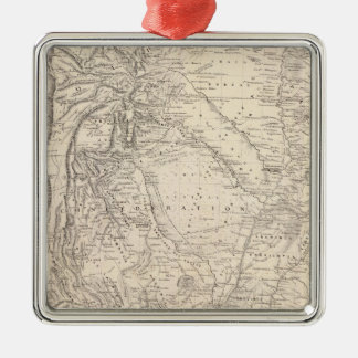 Map of the Argentine Confederation Christmas Ornament