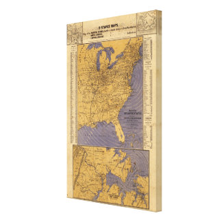 Map of the Atlantic States Canvas Print