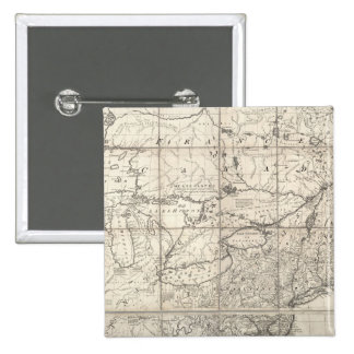 Map of the British and French Dominions 15 Cm Square Badge