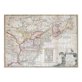 Map of the British Dominions in 1763 13 Cm X 18 Cm Invitation Card