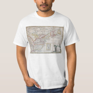 Map of the British Dominions in 1763 T-shirt