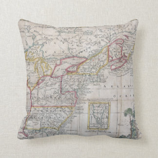 Map of the British Dominions in 1763 Throw Cushion